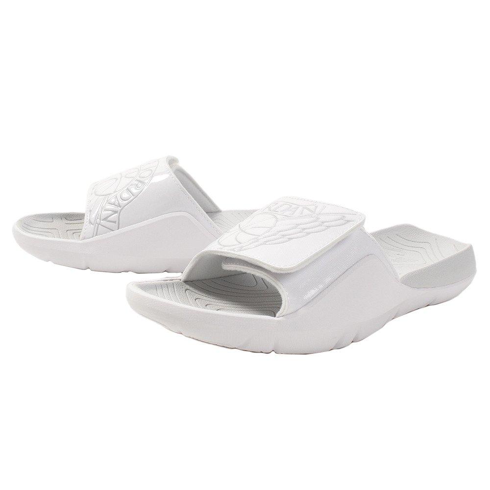 NIKE Jordan Hydro 7 Mens Slippers AA2517-100_7 - White/Pure Platinum-Pure Platinum
