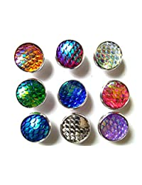 20pairs lot Color Change Ocean fashion Style Mermaid Scales Stud Earrings for Women Girl Gift