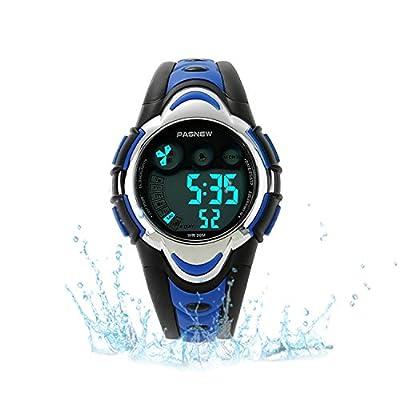 Kids Sport Watch Outdoor LED Sport Waterproof Electronic Quartz Watches for Boy Girls Kids by Misskt
