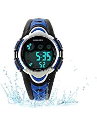 Kids Sport Watch Outdoor LED Sport Waterproof Electronic...