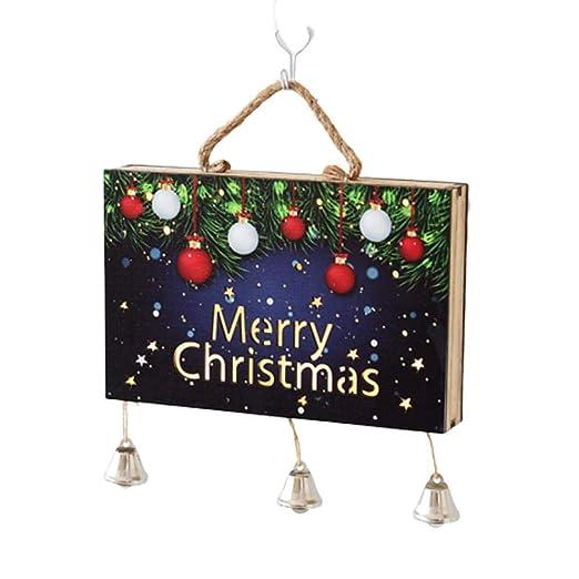 jinclonder Merry Christmas Colgante decoración, Arte de la ...