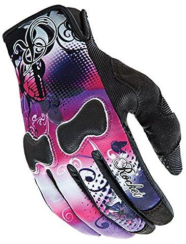 Joe Rocket Nation Womens Pink/Purple Textile Motorcycle Gloves - Small - Textile Motorcycle Gloves