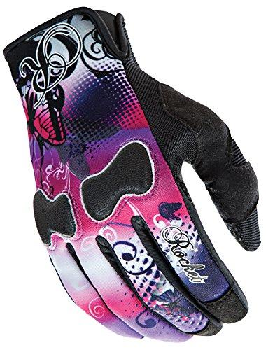 Joe Rocket Nation Womens Pink/Purple Textile Motorcycle Gloves - Medium - Womens Textile Gloves