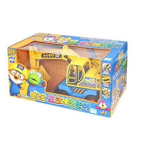PORORO Pork-crane play Heavy Equipment Play Toy Car & JISAM TRADE Toy Sanitizer 30ml ポロロポーククレーン遊び重機遊びおもちゃ車&JISAM TRADEトイサニタイザー30ml