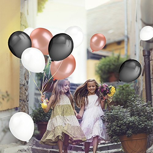 50pcs Rose Gold Black White Color Latex Party Balloons For