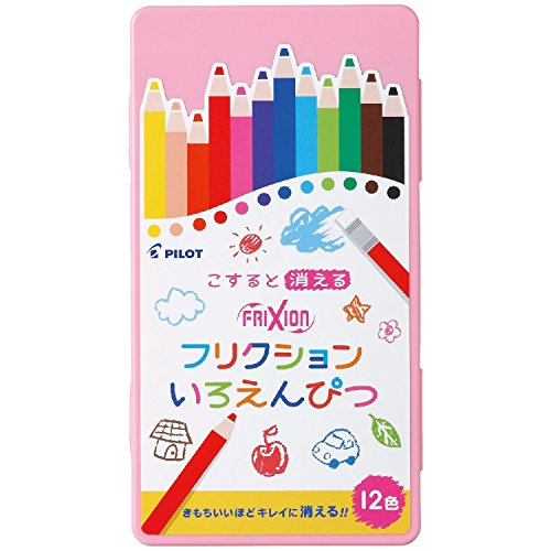 Pilot Frixion Eraseable Colored Pencil 12 Colors with...