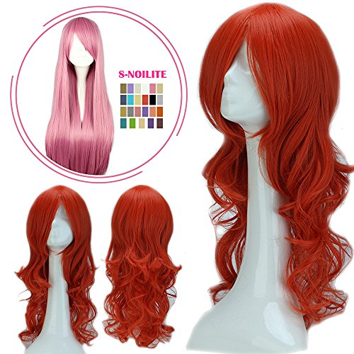 Girls Orange Braid Wig (S-noilite Cosplay Wig Real Thick Heat Resistant Synthetic Hair Halloween Anime Hair Costume Full Head Wigs For Womens Girls (24