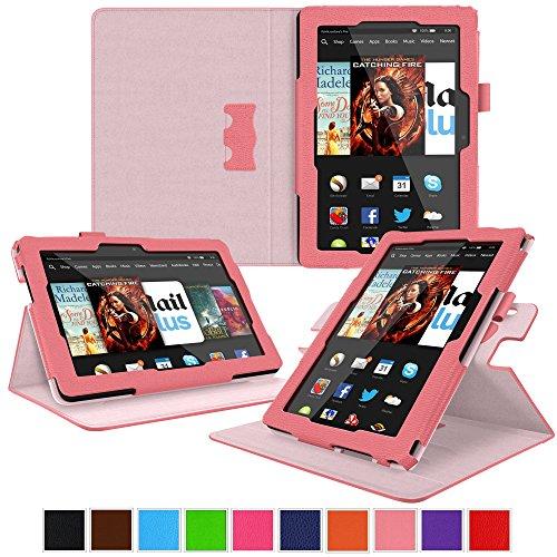 roocase Kindle Fire HDX 8.9 Tablet (2014) Case, New Kindle Fire HDX 8.9 Dual View Folio Case Cover, Pink (Kindle Hdx 7 4th Generation)