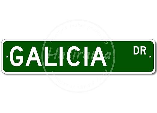 Galicia Street Placa Cartel Vintage Estaño Signo Metal De ...