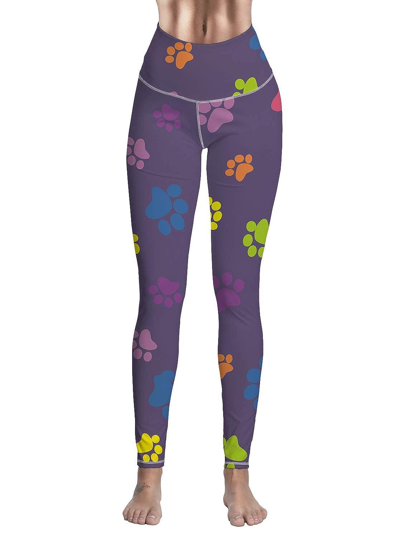 Ankle3 Livencher Women Workout Athletic Leggings Capri Activewear Yoga Pants Green Polka Dot