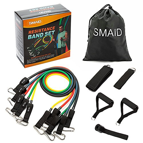 SMAID Resistance Band Set - Include 5 Stackable Exercise Ban