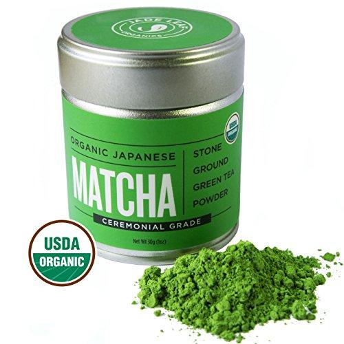 Matcha Green Tea Powder Organic - Japanese Ceremonial Grade (For Sipping as Tea) - Antioxidants, Energy Boost - Jade Leaf Brand [30g Tin]