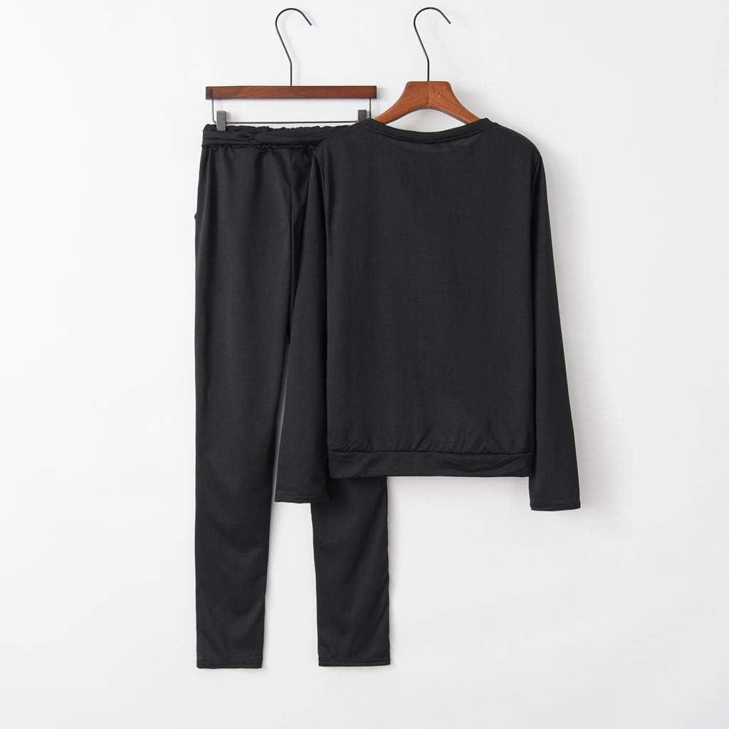Tomatoa Womens 2pcs Plus Size Tracksuit Sets Outfits Jackets and Jogging Pants Sportwear,Women Solid Color Tracksuit Sport Suit