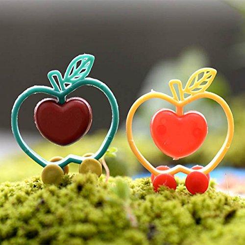 Miniature Plastic Apple Love Moss Micro Landscape Garden DIY Decoration // La manzana plástica en miniatura ama el musgo decoración del HUM del jardín del paisaje micro