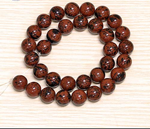 Calvas ZCD 2017 808+++Pure Natural red Imported Gold Obsidian Single Loose Beads - (Item Diameter: 10mm)