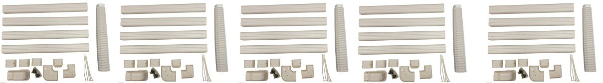 Decorative PVC Line Cover Kit for Mini Split Air Conditioners and Heat Pumps pioneer air conditioner WYS-LCVR-KIT