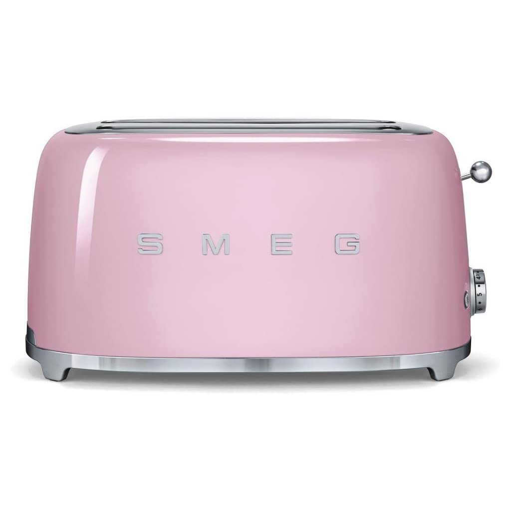 Smeg TSF02PKUK | 50's Retro Style 4 Slice Toaster in Pink