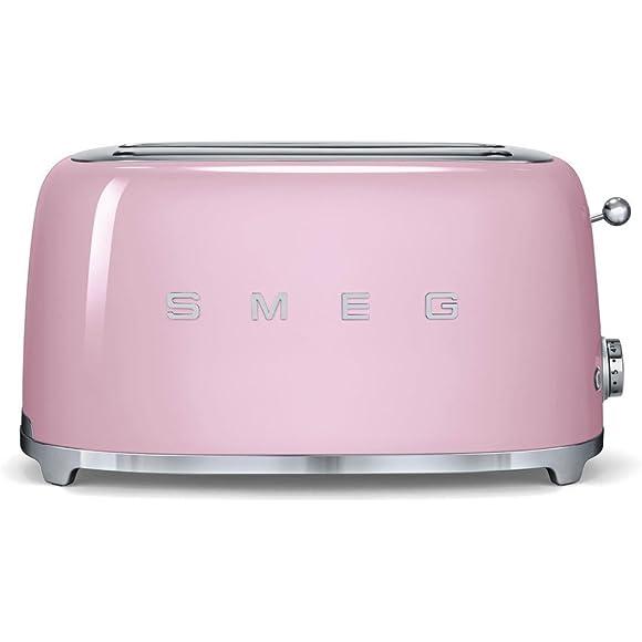 Smeg TSF02PKUK   50's Retro Style 4 Slice Toaster in Pink