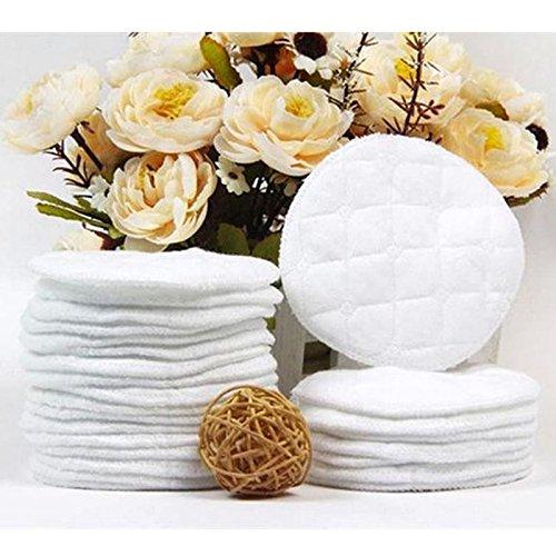 Coussinets d'allaitement, Hinmay réutilisable lavable Coussinets d'allaitement Coton LeakProof hypoallergénique Soutien-gorge Coussinets, 10pcs Coussinets d' allaitement
