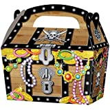 10 x Pirate Treasure Chest Kids Party Treat Cake Food Boxes Favours Goodie Bags