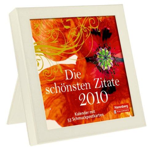Harenberg Premium-Kalender im Rahmen Die schönsten Zitate 2010