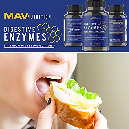 Digestive Enzymes + Probiotics Supplement Designed to Decrease Bloating and Flatulence with Protease Enzyme, Bromelain, and Lactase; Digestion Aid with Three Powerful Strains of Bacteria; NON-GMO by MAV Nutrition (Image #5)
