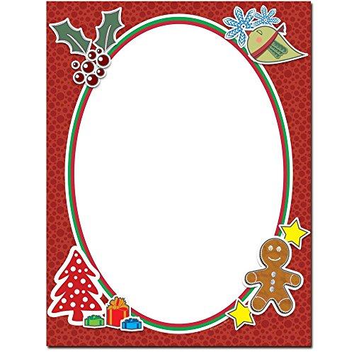 Holiday Frame Letterhead Laser & Inkjet Printer Paper, 100 pack