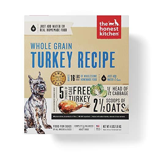 Honest Kitchen Human Grade Dehydrated Organic Grain Turkey Dog Food 4 lb - Keen