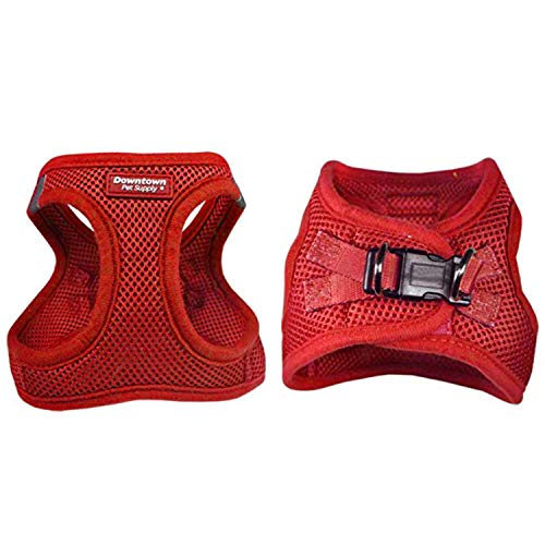 Downtown Pet Supply No Pull, Step in Adjustable Dog Harness with Padded Vest, Easy to Put on Small, Medium and Large Dogs (Red, S) from Downtown Pet Supply