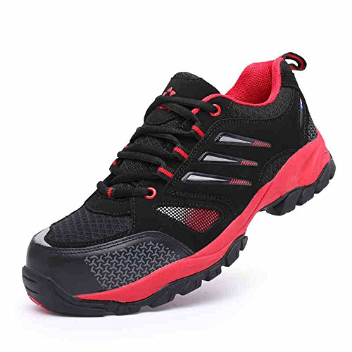 steel puncture safety Black industrial amp;construction work Red toe proof shoes unisex shoes shoes aw0dw