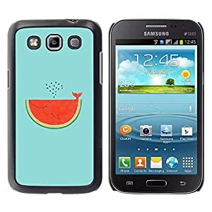 Paccase / SLIM PC / Aliminium Casa Carcasa Funda Case Cover para - Watermelon Whale Art Drawing Tail - Samsung Galaxy Win I8550 I8552 Grand Quattro