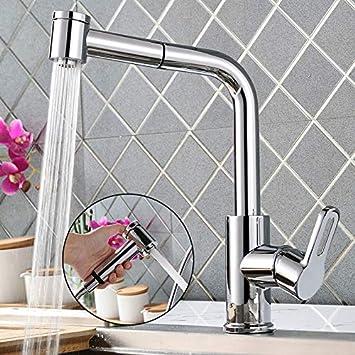 Suministros de limpieza y saneamiento Accesorios de baño Niquel cepillado solo mango frío único mezclador grifo de cocina sin plomo lavar verduras Grifo lavabo