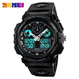 SKMEI Men Sports Quartz Dual Display Watches Fashion Multifunction Military Watch 50M Waterproof Date Digital Wristwatches 1270