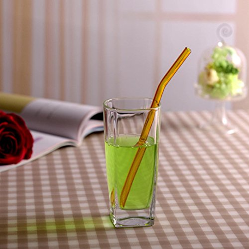 Feccile 7Pcs Reusable Glass Straws for Drinking by Feccile Kitchen (Image #6)