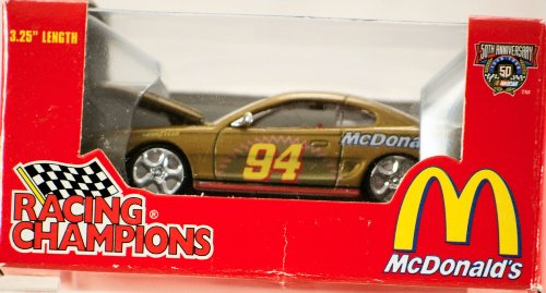 1998 - Racing Champions - NASCAR 50th Anniversary - Bill Elliott #94 - McDonald's / Coca-Cola - 1997 Ford Mustang Cobra - Special Edition - 1:64 Scale Die Cast - MIB - Out of Production - Limited Edition - Collectible
