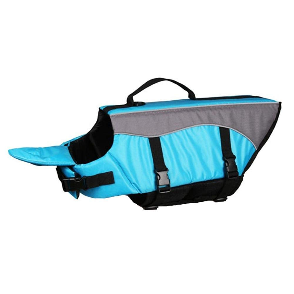 HYBHD Dog Life Jacket Swim Vest Swimsuit with Reflective Strips, Adjustable Lifebuoy Buoyancy Aid Jacket, Sky Blue-XS