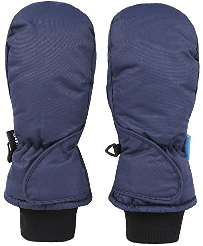 [Girl's 3M Thinsulate Waterproof Winter Sports Snow Ski Mittens, Navy, Age4-6] (Ice Skating Costume Ideas)
