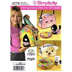 "Simplicity 4278 Pet Accessories for 18"" Doll"