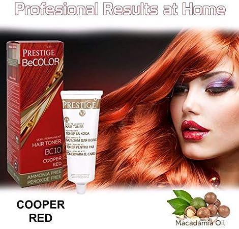 Vips Prestige - BeColor Tinte Semi Permanente Color Rojo Cobrizo BC10, Sin Amoniaco Sin Peroxide