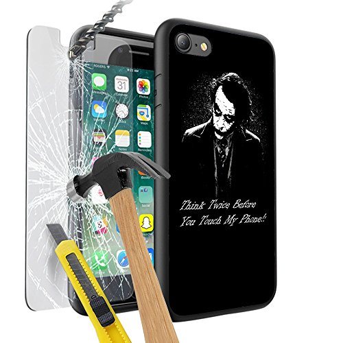 iPhone X Case Cover Skin, Unique Custom Cool Design Prodective Hard back Slim Thin Fit PC With Tempered Glass Screen Protector Cover 9H TEMPERED GLASS Anti-Scratch Shatter-Proof Scratch-Resistant Cove