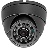 2 Megapixel 1080P Dome IR HD-CVI HD-TVI AHD CVBS 700TVL (4 options in 1) Camera 24IR 2.8mm WIDE ANGLE lens Vandalproof Small Indoor Outdoor Aluminum Housing Security Camera for Gray Color