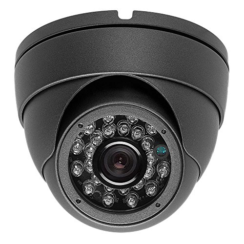 2 Megapixel 1080P Dome IR HD-CVI HD-TVI AHD CVBS 700TVL (4 options in 1) Camera 24IR 2.8mm WIDE ANGLE lens Vandalproof Small Indoor Outdoor Aluminum Housing Security Camera for Gray Color (Aluminum Outdoor Camera Housing)