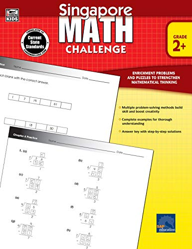 (Singapore Math - Challenge Workbook for 2nd, 3rd, 4th, 5th Grade Math, Paperback, Ages 7-11 with Answer)