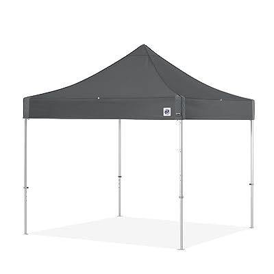 E-Z UP Endeavor Instant Shelter | ENDA10KSG | Heavy Duty Pop Up Canopy | 10' x 10' (3M) | 100 Sq' of Shade | Octagonal-Legged Aluminum Frame | Steel Gray : Garden & Outdoor
