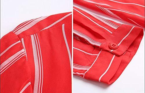 A Cuadrado Rayas Larga Celulosa De Otoño Regenerado Manga Un Costura Hembra Cuello Lhhj Pecho Fibra Abrigo Red Solo Chaqueta wnYzqq04