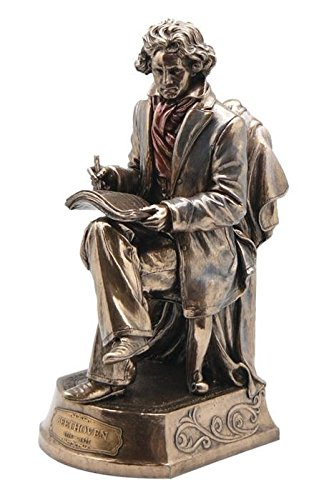 Beethoven Statue Bronze Powder Cast 9.75-in US WU75131A4