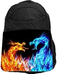 Rikki Knight UKBK Fire Lion Superstrong BackPack - Padded for Laptops & Tablets Ideal for School or College Bag...