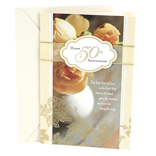 Hallmark 50th Anniversary Greeting Card (Roses)