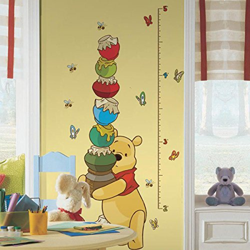RoomMates INT1501GCWinnie the Pooh - Pooh & Friends Peel and Stick Metric Growth Chart Wall Decals