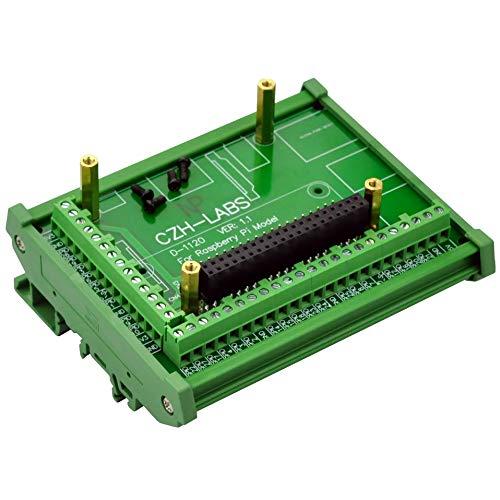 Electronics-Salon DIN Rail Mount Screw Terminal Block Adapter Module, for Raspberry Pi 1 Model A+,1 B+, 2 B, 3 B, 3 B+, 3 A+, ZERO, ZERO W.